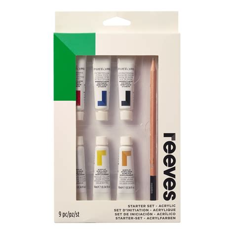 acrylic painting starter kit reeves acrylic paint starter set 10pcs at wilko