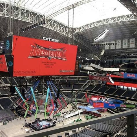 100 floors stage 34 at t stadium nearly complete to host wrestlemania 32
