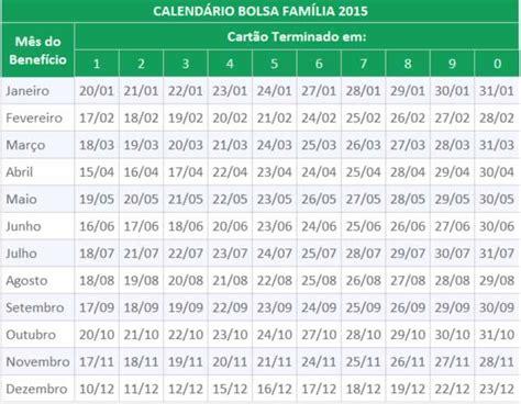 calend 225 do bolsa fam 237 lia 2015 bolsa fam 237 la