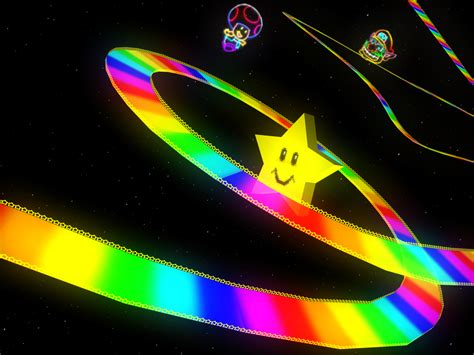super colorful spoilers mario kart 8 rainbow road ign boards