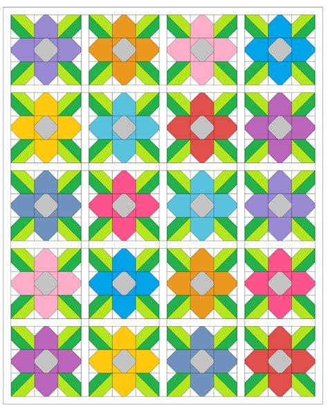 Sashing Quilt Blocks by Sew Fresh Quilts Pretty Posy Free Quilt Block Tutorial