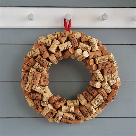 christmas cork idea images cork wreath by impulse purchase notonthehighstreet