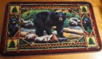 Black Bear Decor Black Bear Cub Cabin Lodge Home Decor Living Room Area