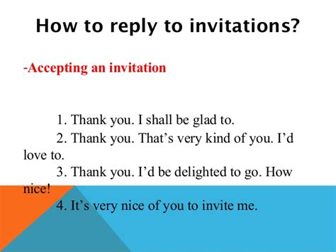 Sle Letter Response To Invitation invitations and replies to invitations