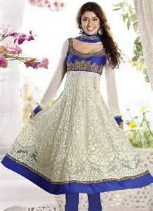White and blue color designer anarkali dress dressanarkali
