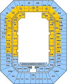 Entertainment Centre Floor Plan by Brisbane Entertainment Centre Seating Map Austadiums