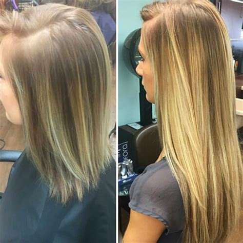 hair extensions before and after hair extensions before after true client experiences aqua hair