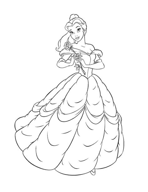 printable coloring pages belle free printable belle coloring pages for kids