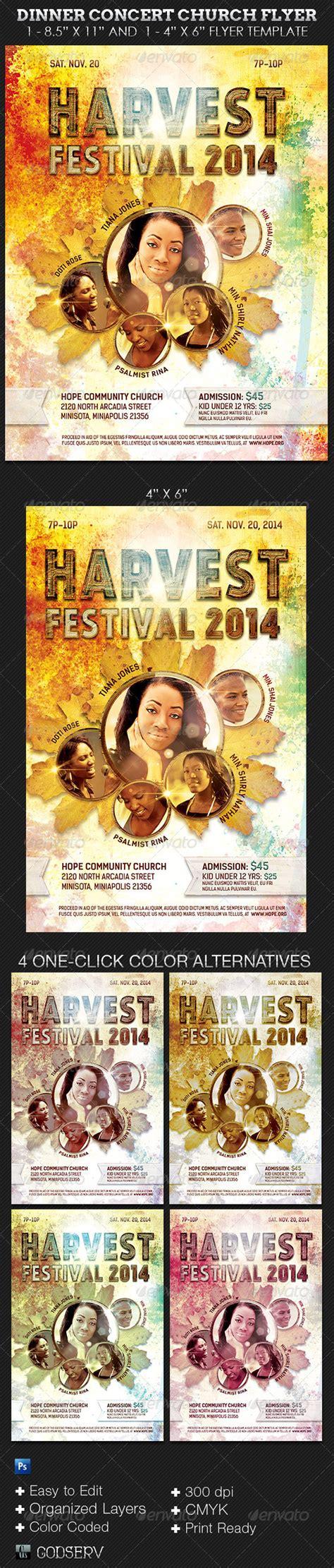 Harvest Festival Concert Flyer Template By Godserv On Deviantart Harvest Festival Flyer Free Template