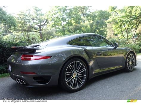 grey porsche 911 turbo 2015 porsche 911 turbo coupe in agate grey metallic photo