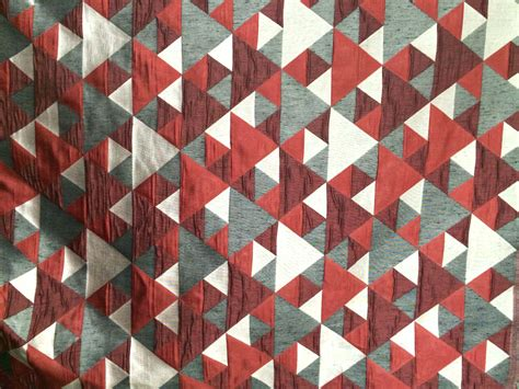geometric pattern upholstery red n grey origami geometric fabric by the yard curtain fabric
