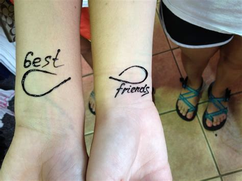 henna friendship tattoos pin best friends bf bff key and lock necklace