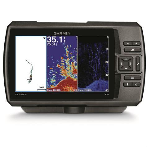 Gps Finder Garmin Striker 7cv Chirp Sonar Fish Finder With Gps And Clearv 252 Scanning Sonar