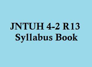 Jntuh Mba Syllabus R13 by Jntuh 4 2 R13 Syllabus Book All Branches Notes Smartzworld