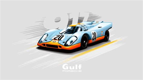 gulf porsche wallpaper porsche 917 vector wallpaper 1600x900 250999 wallpaperup
