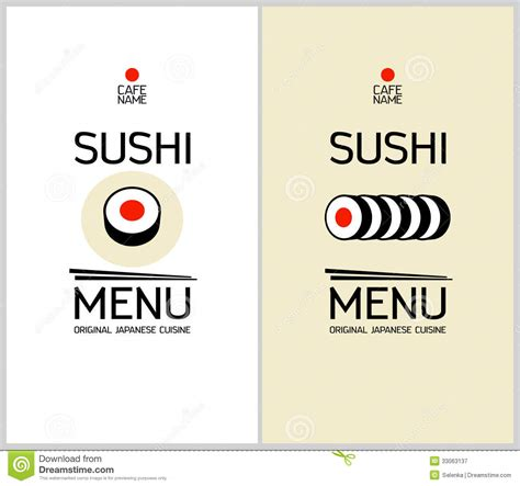 sushi menu template sushi menu design template royalty free stock photography