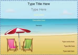 blank certificates beach certificates