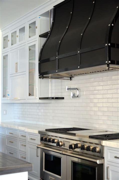 Black Range Hood   Transitional   kitchen   RT Abbott