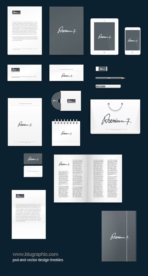 photoshop mockup template corporate identity mockup background