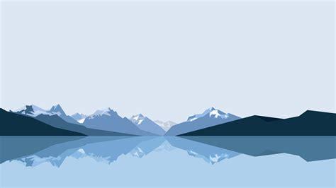 minimalist mountains minimalist mountains and lake uhd 8k wallpaper pixelz