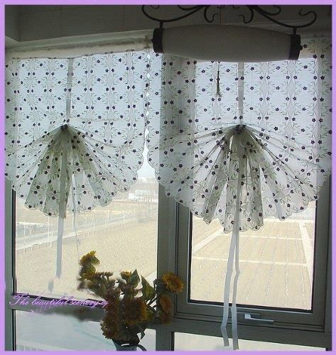 Purple Cafe Curtains Embroidery Purple Vine Sheer Voile Pull Up Cafe Curtain By