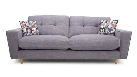 dfs sofa guarantee dfs beckett grey fabric 4 2 seater sofa cuddler swivel