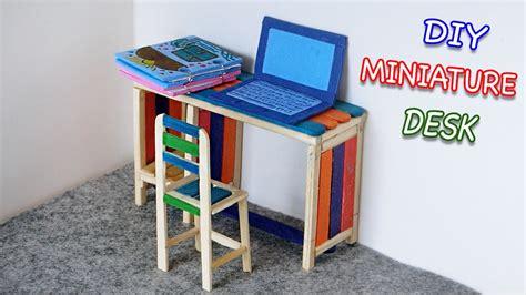 diy miniature furniture desk chair laptop popsicle
