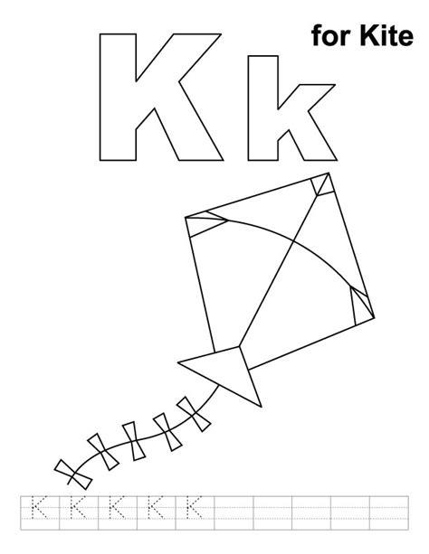 kite coloring pages for kindergarten letter k coloring page az coloring pages