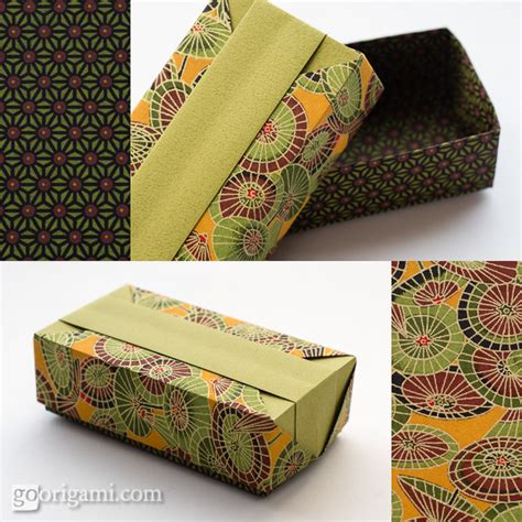 Origami Wrapping Paper Gift Box - origami boxes and dishes gallery go origami