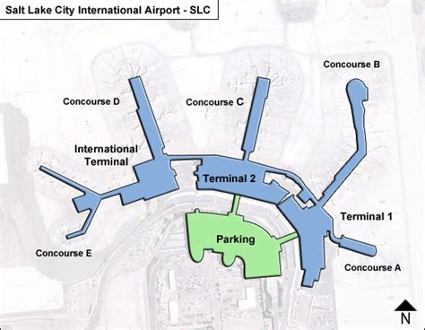 slc airport map slc salt lake city airport terminal maps