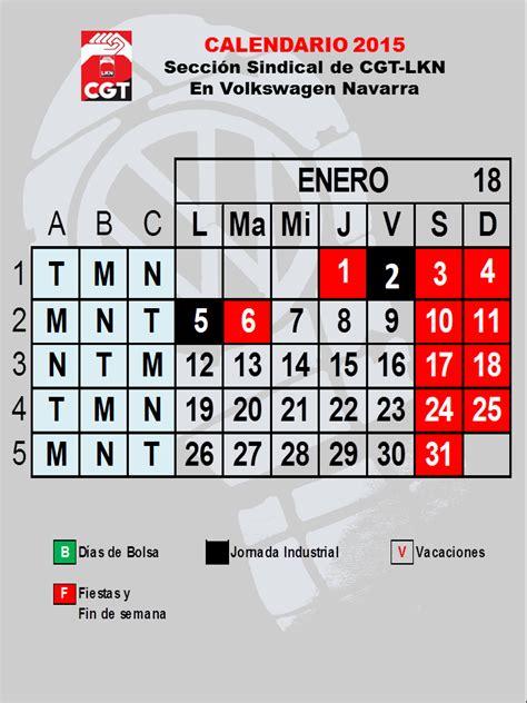 Calendario Definitivo Noviembre 2014 Cgt Lkn Volkswagen