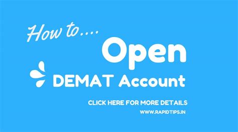 How To Open D Mat Account by How To Open Demat Account Beginners Guide By Rapid Tips