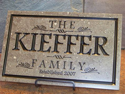 Buy a Hand Crafted Family Name Plaque, made to order from