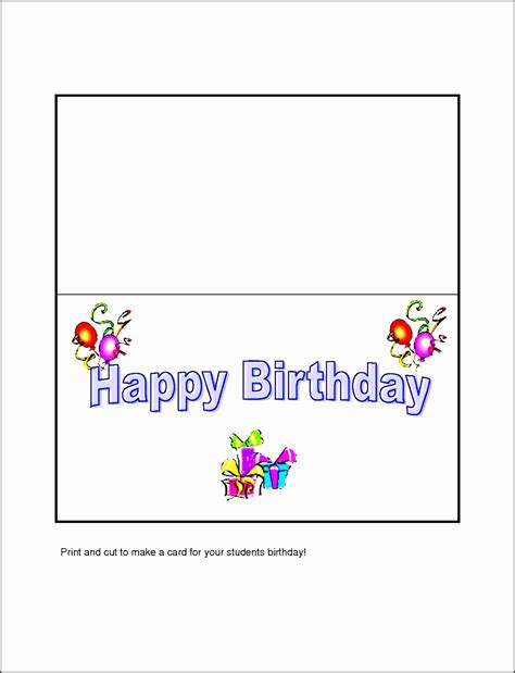 Microsoft Word 2013 Birthday Card Template by 10 Free Microsoft Word Greeting Card Templates