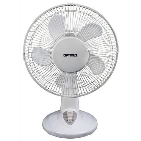 oscillating table fan optimus 97088698m 12 quot oscillating table fan