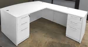 L Shaped Desk With Drawers White U Shaped Workstation W Hutch