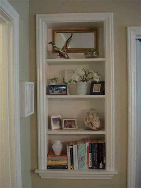 Shelf In Wall Tutorial here: https://www.wwgoa.com