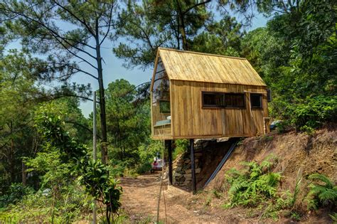 Small Cabin Plans Forest House Is A Tiny Work Sleep Retreat From Vietnam