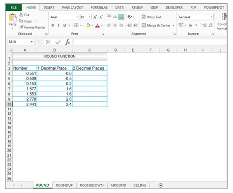 How To Use Ceiling Function In Excel by How To Use Excel Roundup Rounddown Mround Ceiling Functions