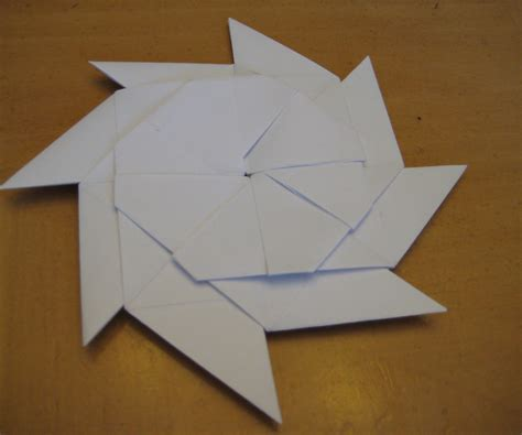 Origami Shuriken 8 Point - origami how to make a paper transforming