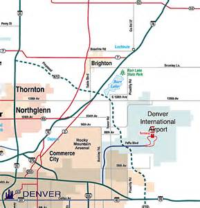 map of colorado airports denver colorado airport map