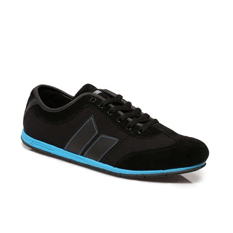 Machbeat Shoes For macbeth black brighton suede canvas mens trainers sneakers shoes size 7 11 ebay