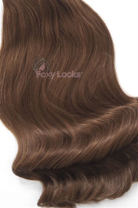 luxury human hair extensions chestnut brown 6 luxurious 24 quot clip in human hair