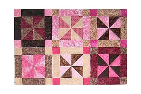 Easy Pinwheel Quilt Block by Easy Framed Pinwheels Quilt Block Pattern
