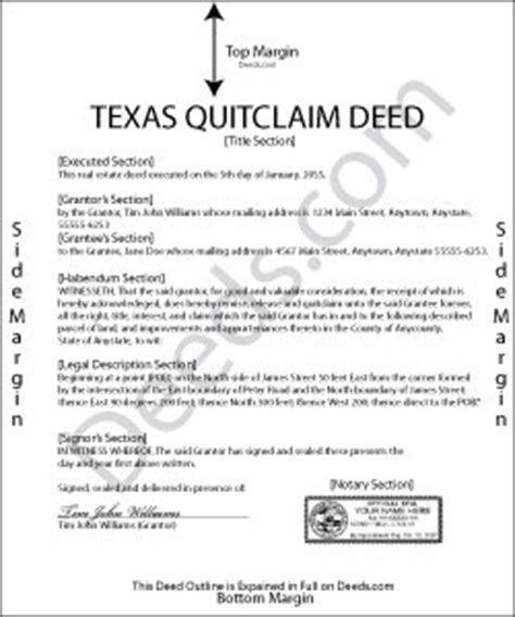 free printable quit claim deed texas texas quit claim deed forms deeds com