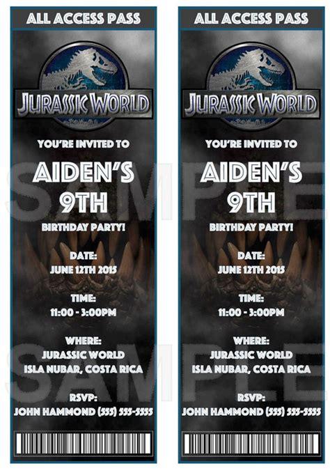 printable jurassic world birthday invitations jurassic world invitations color