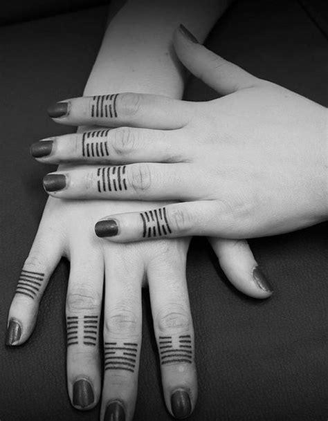 black pattern finger tattoo 100 imaganitve finger tattoo designs for boys and girls