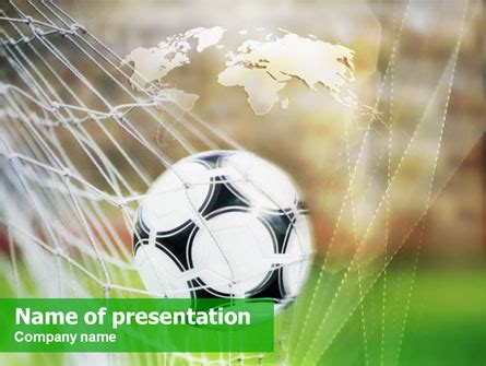 Soccer Powerpoint Template Backgrounds 01291 Poweredtemplate Com Powerpoint Templates Soccer