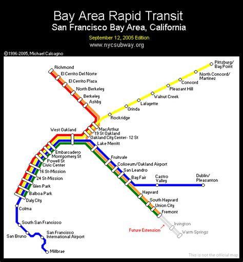 san francisco map showing bart stations world nycsubway org bart bay area rapid transit
