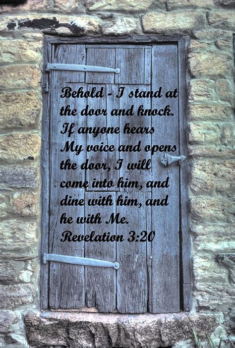 I Stand At The Door by Behold I Stand At The Door And Knock Revelation 3 20